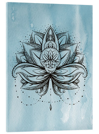 Acrylic print  Lotus Zen watercolor