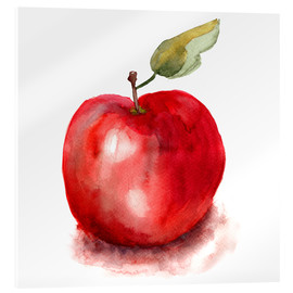 Acrylic glass  Sweet apple watercolor