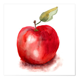 Premium poster  Sweet apple watercolor