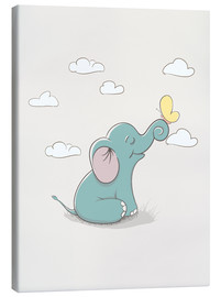 Canvas  Little elephant with butterfly - Kidz Collection