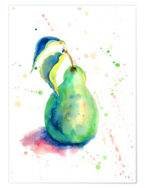 Premium poster Sweet pear watercolor