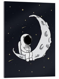 Acrylic print  Little man on the Moon - Kidz Collection