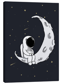 Canvas print  Little man on the Moon - Kidz Collection
