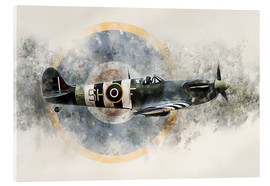 Acrylic print  Spitfire AB910 - airpowerart