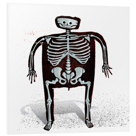 Foam board print  skeleton - Daniel Matzenbacher