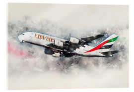 Acrylic print  Emirates A380 - airpowerart
