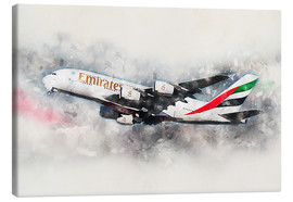 Canvas print  Emirates A380 - airpowerart