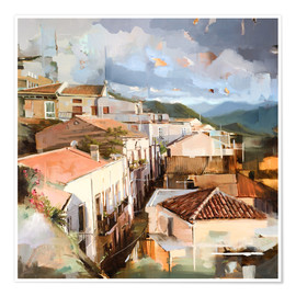 Premium poster  Roofs of Sicily - Johnny Morant