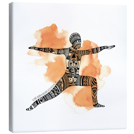 Canvas print  VIRABHADRASANA color 1 1 - SMUCK