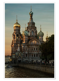 Premium poster  Cathedral of the Savior in Sankt Petersburg - Jaroslaw Blaminsky