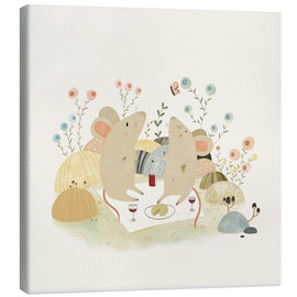 Canvas print  Romantic mice - Judith Loske