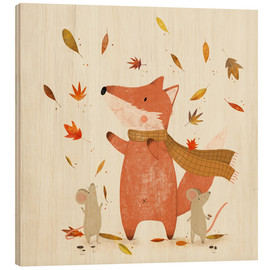 Wood print  Fall is coming - Judith Loske