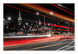 Premium poster New York City view with Empire State Building
