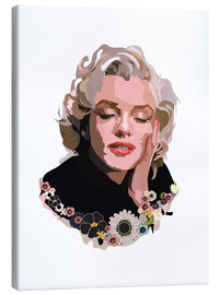 Canvas  Marilyn Monroe With Flowers - Anna McKay