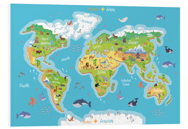 Forex  World map for children - German - Kidz Collection
