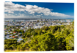 Acrylic print  Skyline Auckland New Zealand - Thomas Hagenau