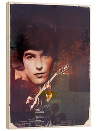 Wood print  george harrison - Daniel Matzenbacher