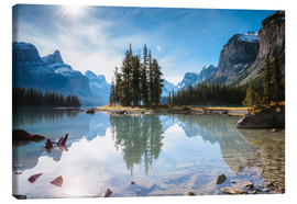 Canvas print  Iconic Spirit Island, Maligne Lake, Canada - Matteo Colombo