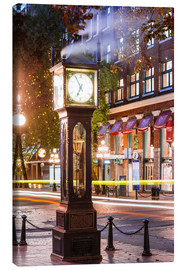 Canvas print  Steam clock in Gastown, Vancouver, Canada - Matteo Colombo