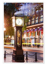 Premium poster  Steam clock in Gastown, Vancouver, Canada - Matteo Colombo