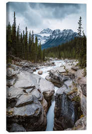 Canvas print  Mistaya Canyon river, Banff, Canada - Matteo Colombo