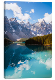 Canvas print  Lake Moraine in the Canadian Rockies - Matteo Colombo