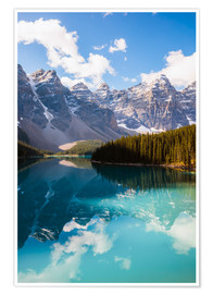 Premium poster  Lake Moraine in the Canadian Rockies - Matteo Colombo