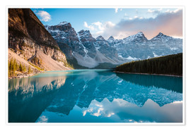 Premium poster Sunset over Moraine lake, Banff, Canada