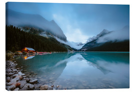 Canvas print  Misty lake Louise, Banff, Canada - Matteo Colombo