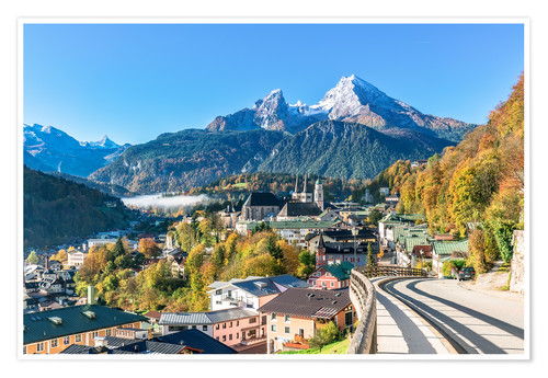 Premium poster Watzmann Mountain and Berchtesgaden