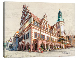 Canvas print  Leipzig Old Town Hall - Peter Roder