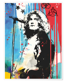 Premium poster  Robert Plant, Led Zeppelin - 2ToastDesign