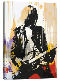 Canvas  The ramones Johnny Ramone art print - 2ToastDesign