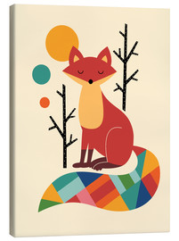 Canvas  Rainbow Fox - Andy Westface