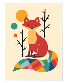 Premium poster  Rainbow Fox - Andy Westface