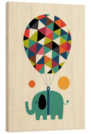 Wood print  Fly high and dream big - Andy Westface