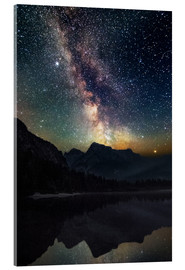 Acrylic print  Milky Way over the mountains - Matthias Köstler