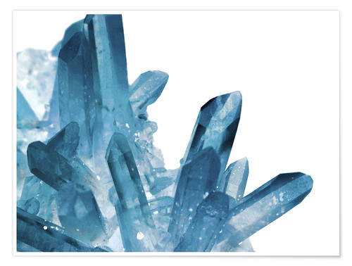 Premium poster Crystal in blue