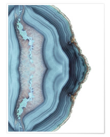 Premium poster  Light blue agate - Emanuela Carratoni