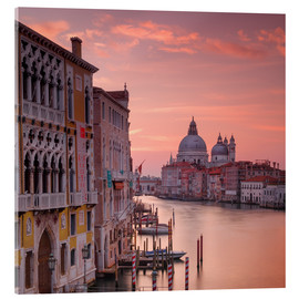 Acrylic print  Venice and the grand Canal at sunrise - Alex Saberi