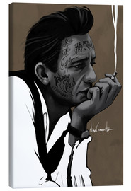 Canvas print  johnny cash - Nino Cammarata