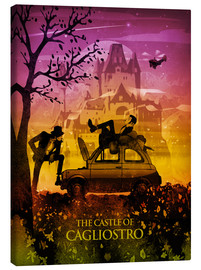 Canvas  Castle of Cagliostro Poster Lounge - Albert Cagnef
