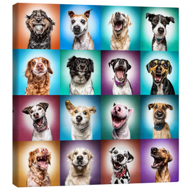Canvas print  More funny dog faces - Manuela Kulpa