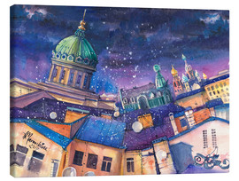 Canvas print  Mysterious Saint Petersburg, Russia - Anastasia Mamoshina