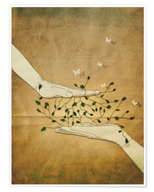 Premium poster  Let's grow together - Sybille Sterk