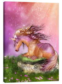Canvas  Unicorn - Love is Healing - Dolphins DreamDesign