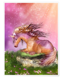 Premium poster Unicorn - Love is Healing