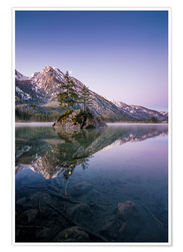 Premium poster Morning mood at lake Hintersee
