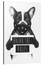 Aluminium print  Break the rules, rebel dog - Balazs Solti