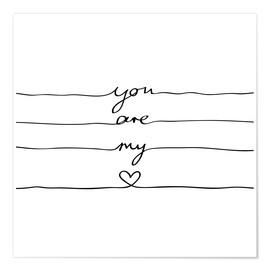 Premium poster  You are my heart - Mareike Böhmer Graphics